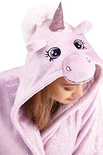 regalo da Robe Lilac Sparkle Purple VESTAGLIA 3D elegante donna Loungeable animale gadget con cappuccio divertente aT0T1