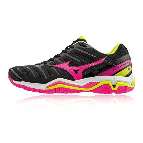 SS18 Court Wave Black Shoes Stealth Indoor Women's 4 Mizuno FgXPn0wqd0