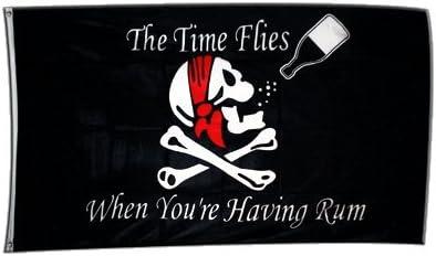 Digni Bandera pirata con ron (90 x 150 cm, poliéster): Amazon ...