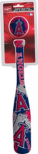 Jarden Sports Licensing MLB Los Angeles Angels Kids Mini Softee Bat & Ball Set, Small, - Mlb Angels Mini