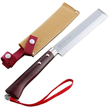 Tomita Nissaku Japanese Garden Machetes No. 4165 Stainless Steel Blade 1k-6 HRC 58° with Strap
