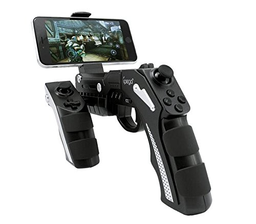 iPega PG-9057 Phantom ShoX Blaster Bluetooth Gun Game Controller Wireless Bluetooth 3.0 With Stand for Android 3.2 IOS 7.0 Above Smartphones Tablet PC Win7 Win8 Win10 Computer