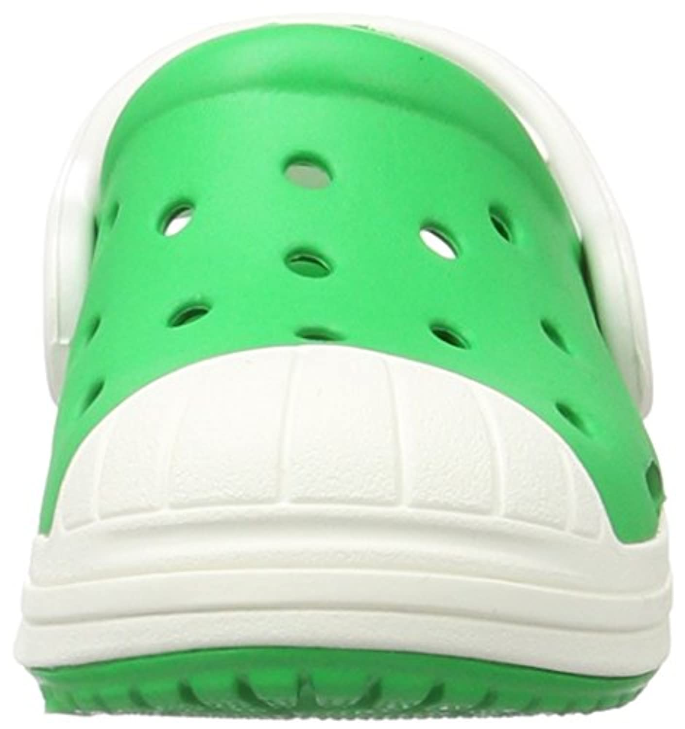 crocs Unisex Kids' Bump It K Clogs, Green (Grass Green/Oyster), 34-35