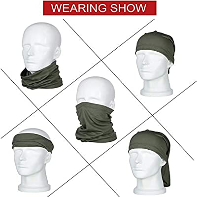 Bandanas Neck Gaiter Mask Non Slip Ultra Breathable Balaclava Nose Cover Scarf for Wind Sun UV and Dust Protection: Toys & Games