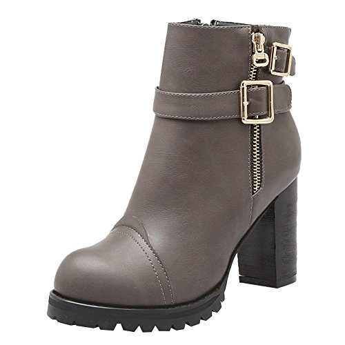 Grigio Invernali MissSaSa Boots Elegante Donna Stivaletti n6qqZ7B