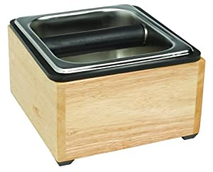 Rattleware Basic Knock Box Set with Maple Holder by Espresso Supply, Inc