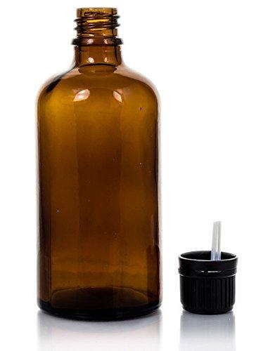 Botella Cristal Ámbar con Cuentagotas - 100ml