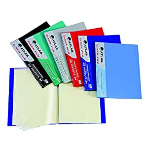Atlas Clear File A4 Assorted Colors, Pocket of 30