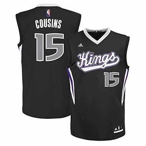 DeMarcus Cousins Jersey: adidas Alternate Black Replica #15 Sacramento Kings Jersey