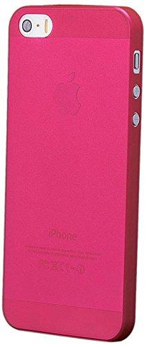 iCues Apple iPhone 5/5S/SE Zero - Rot - Federleichte 5 g Ultra Slim + Displayschutzfolie