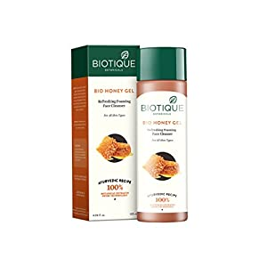 Biotique Honey Gel Hydrating Foaming Face Cleanser 120Ml/4.06Fl.Oz.