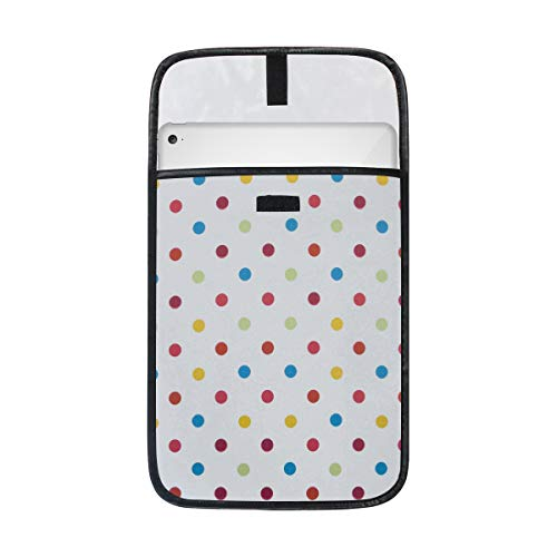 imobaby Colorful Polka Dot iPad Protective Case Storage Carrying Laptop Tablet Sleeve Case, Compatible with Apple 12/12.9 Inch iPad Pro Tablet