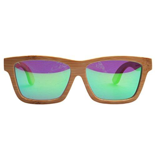 0b05e44c7c De bajo costo Iwood Artesanal de bambú carbono polarizado lente verde gafas  de sol de madera