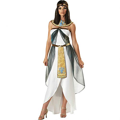Women's Sexy Greek Goddess Egyptian Queen Costumes,Adult Party Fancy Halloween Costumes Arabia Long -