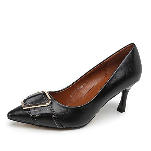 PUMPS Damen High Heels,Oberflächliche Spitzen Stöckelschuhen-A Fußlänge=24.3CM(9.6Inch)