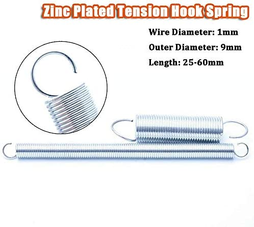 Wire Dia 0.5mm Tension Extending Springs Expansion Spring Length Size Choose
