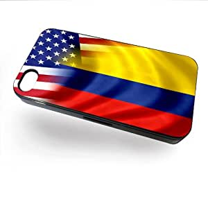 Case for iPhone 4/4S with Flag of Colombia and USA