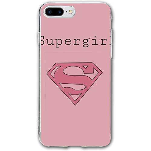 SWDFFG iPhone 7 Plus iPhone 8 Plus Case- Stylish Supergirl PC Slim Shockproof Flexible Back Protective Case for iPhone 7 Plus/iPhone 8 - Rose Supergirl