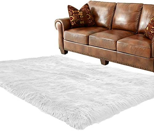 5×7 / Off White/Faux Fur Sheepskin/Pelt Rug/Sheepskin Collection/New Review