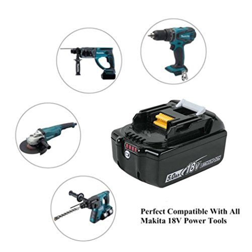 Ecosin For Makita 18V Replace Battery 5.0AH Lithium For Makita BL1860 BL1860B by Ecosin