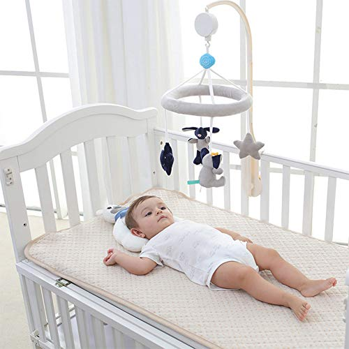 Deerbb Baby Musical Crib Mobile with Arm Bed Bell Interactive Nursery Toys for 0-12 Months Newborn Best Kids Boys Girls Gift Infant Cot Bassinet Mobile Bed Ring Music Box ()