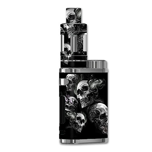 Skin Decal Vinyl Wrap For ELeaf IStick Pico 75w TC Vape Mod / Glowing Skulls In Smoke (Best Electronic Shisha Pen)