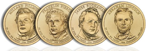 2010 Presidential Dollar Set (4 Coins) Uncirculated