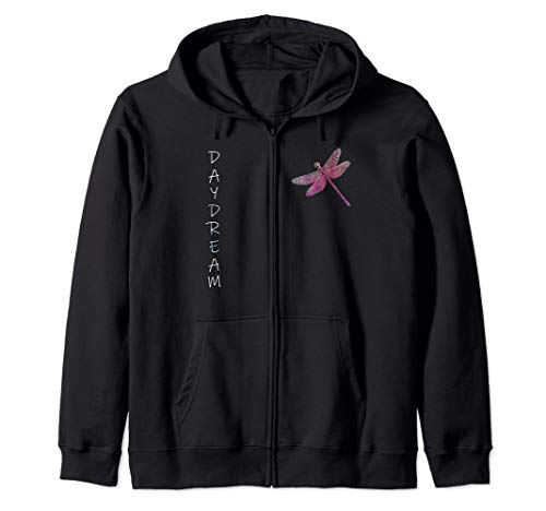 - Dragonfly Hippie Quote Dream Dont Nightmare Gift Dragonflies Zip Hoodie