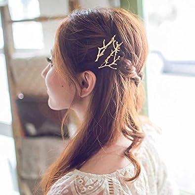 Topdo 1/PCS Pince /à Cheveux Forme de Branche Mode Mariage Accessoires de Cheveux Parti pour Les Femmes et Les Fille 6.5/cm