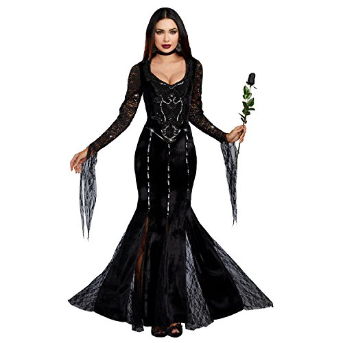 Dreamgirl Women's Frightfully Beautiful, Black, M