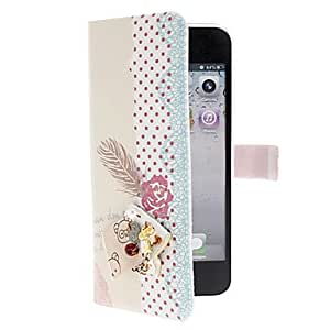 HP DFKey Pattern PU Leather Case with Stand for iPhone 5/5S