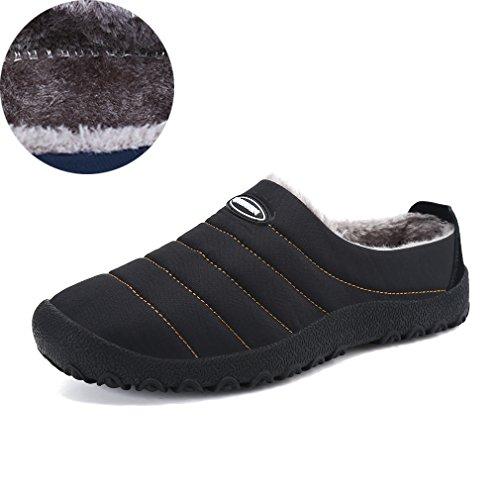 KEESKY Winter House Slippers Waterproof Anti-Slip Shoes For Men and Women Indoor/Outdoor