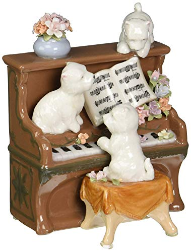 - Cosmos Gifts 80096 Fine Porcelain Westies Western Terrier Dogs Playing on Piano Musical Figurine, 5-1/4