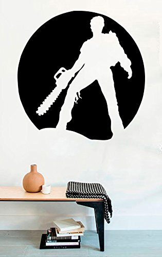 FSDS Vinyl Wall Decal - Evil Dead Man with Chainsaw Scary Zombie Dead Horror Halloween - Home Decor Sticker Vinyl Decals]()