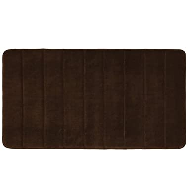 Townhouse Rugs Luxurious 19-1/2-Inch by 36-Inch Memory Foam Bath Rug, Brown
