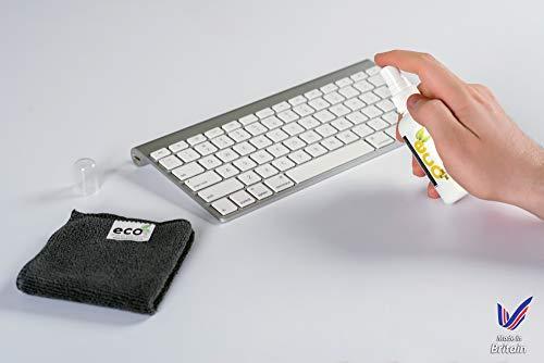 Natural El teclado y el ratón más limpio. 50ml viene con alta calidad de microfibra toalla. Mejor para los teclados, Ratón, almohadillas, joysticks, ...