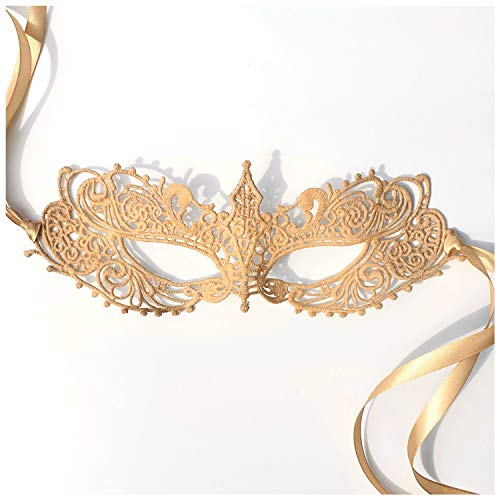 Samantha Peach Nude Goddess Lace Masquerade Mask