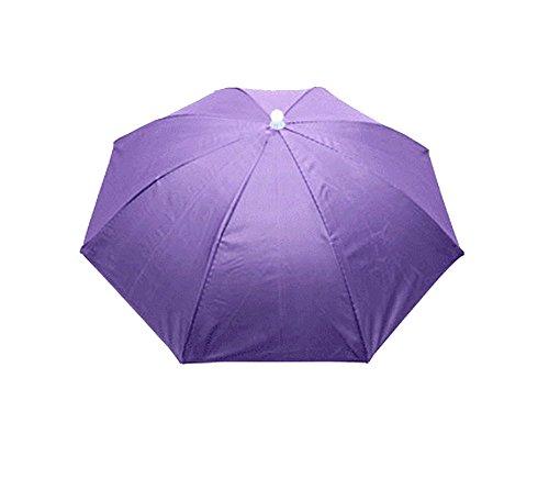 Purple Umbrella Hat Headwear for Fishing Sun Rain