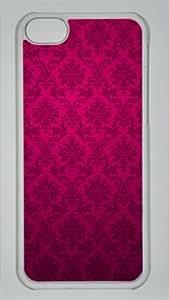 Iphone 5C PC Hard Shell Case Damas Floral Vintage Transparent Skin by Sallylotus