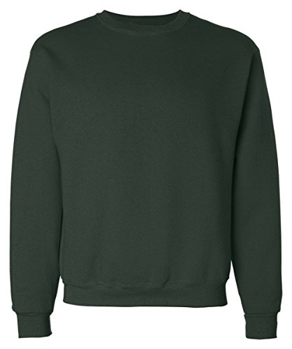 Fruit Of The Loom Men Athletic Cotton Supercotton Sweatshirt_Forest Green_3X -