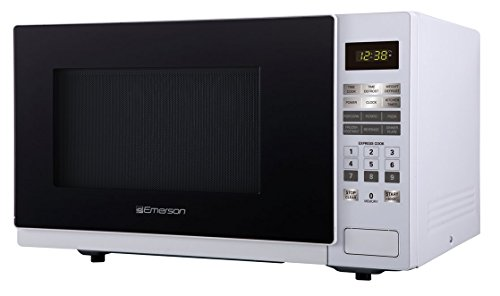 Emerson ER105001 1.1 cu. ft. 1000W, Touch Control Counter Top Microwave Oven, White by Emerson Radio