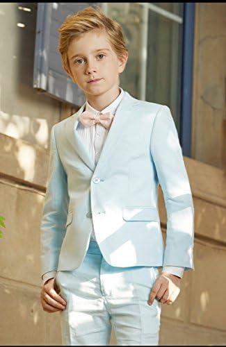 Michealboy Big Boys White 3PC Modern Fit Suit Blazer Vest /& Pants Size 2-16