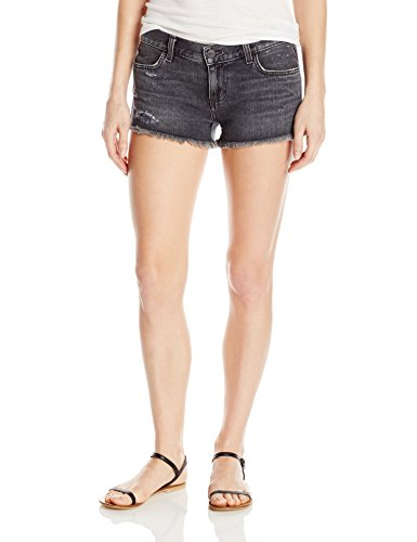 Siwy Women's Camilla Black in Vogue Signature Low Rise Shorts, 25