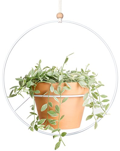 Mkono Plant Hanger Metal Hanging Planter Modern Home Decor, (Flower Pot Not Included) by Mkono