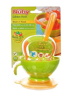 Nuby Garden Fresh Mash 'N' Feed 4 Piece Baby Preparation & Feeding System