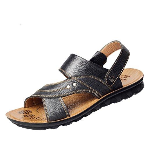 MatchLife - Sandalias de vestir de Material Sintético para hombre - Style1-Schwarz