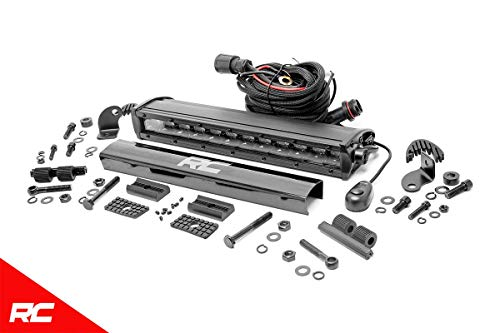 """Rough Country 12"""" Black Series Single Row CREE LED Light Bar Compatible w/Anywhere You Can Mount 70712BL"""