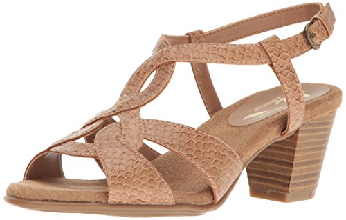 A2 by Aerosoles Women's Base Level Dress Sandal, Tan Snake, 7 M US (Tan Snake)
