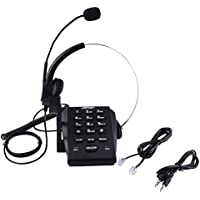 AGPtek Call Center Dialpad Headset Telephone with Tone Dial Key Pad & REDIAL (HA0021H) (HA0071)