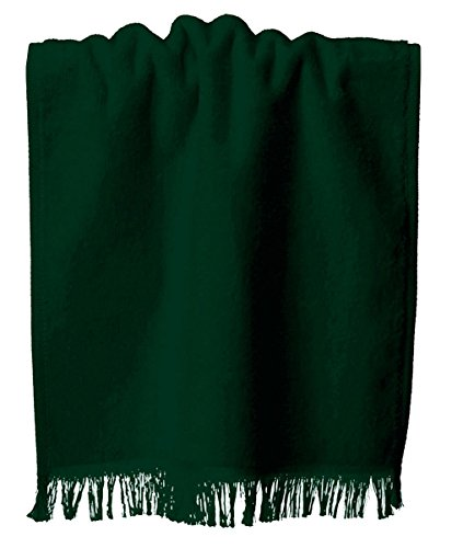 Anvil Oeko Tex Cotton Sheared Fringed Fingertip Towel, Hunter, One Size